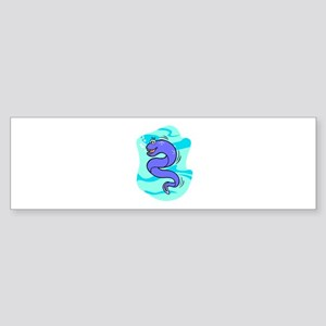 Eel Cartoon Bumper Sticker