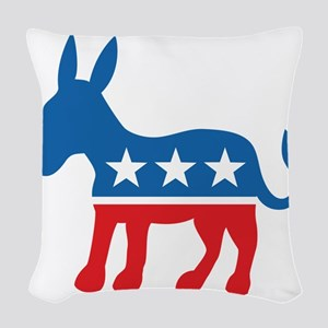 Democrate Donkey Woven Throw Pillow