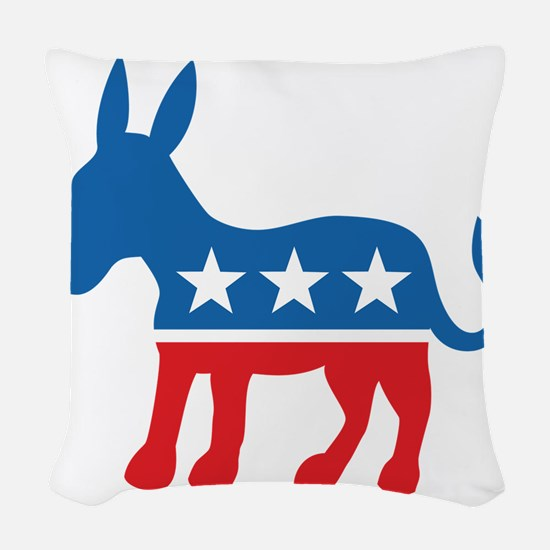 Democrate Donkey Woven Throw Pillow