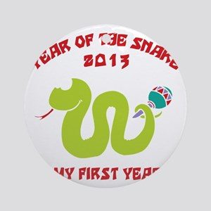 Year of Snake 2013 Round Ornament