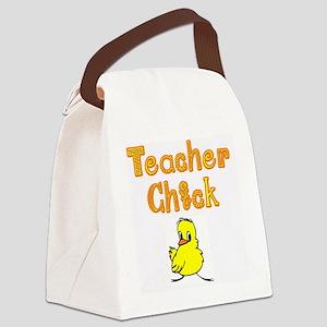 Teacher Chick Canvas Lunch Bag