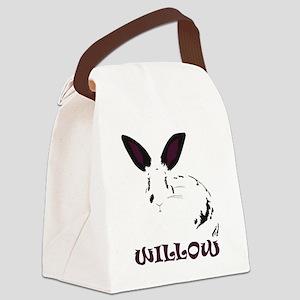Logo on Black Canvas Lunch Bag