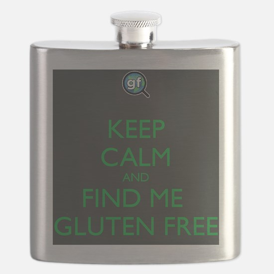 Keep Calm and Find Me Gluten Free Flask