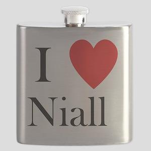 i love niall shirt heart Flask