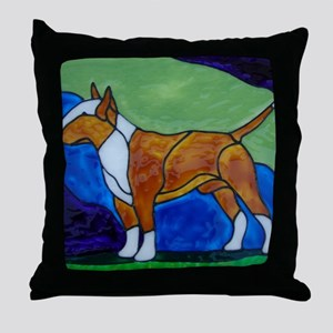 Stacked Red Bully Throw Pillow