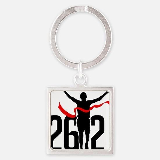 26.2 Marathon Square Keychain