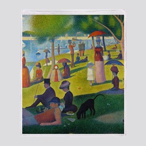 FF1 Seurat Jatte Throw Blanket