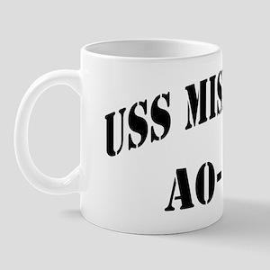 uss mispillion black letters Mug