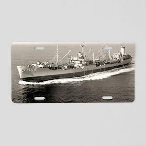uss misillion framed panel  Aluminum License Plate