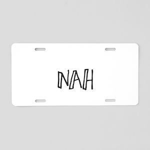 Nah Aluminum License Plate