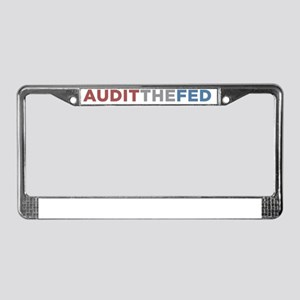 AUDIT THE FED License Plate Frame