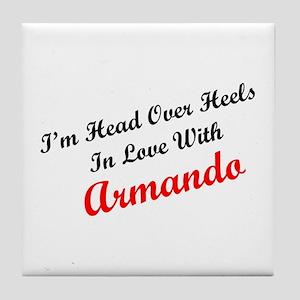 In Love with Armando Tile Coaster