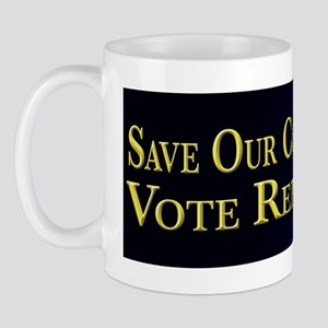 Save Our Constitution Vote Republican! Mug