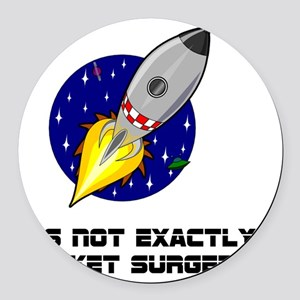 Rocket Surgery Round Car Magnet