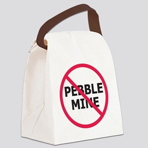 NoPebbleMine Canvas Lunch Bag