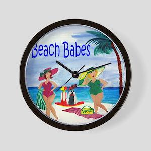 Beach Babes Wall Clock