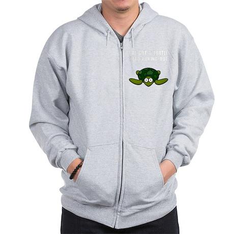 Turtle Head Poking Out Zip Hoodie
