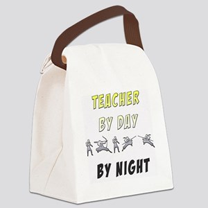 Teacher by Day, Ninja by Night Canvas Lunch Bag