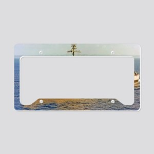 uss monticello large framed p License Plate Holder