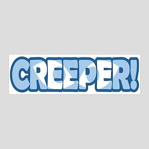 Creeper Text Eyes Wall Decal