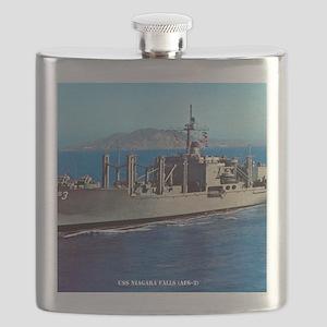 uss niagara falls framed panel print Flask