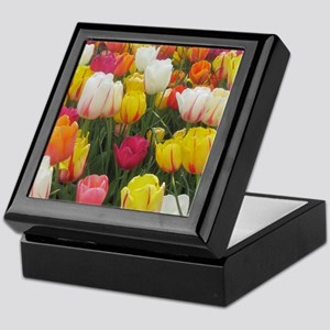 Spring Tulip Field Keepsake Box
