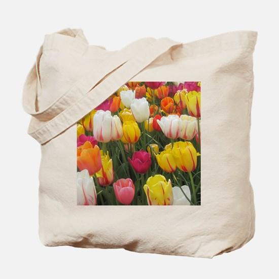 Spring Tulip Field Tote Bag