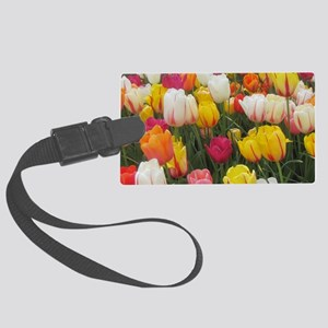 Spring Tulip Field Large Luggage Tag