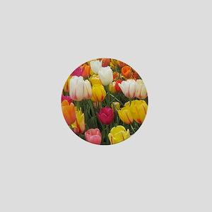 Spring Tulip Field Mini Button