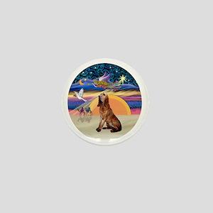 R-XmasAngel-Bloodhound Mini Button