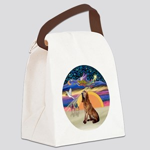 R-XmasAngel-Bloodhound Canvas Lunch Bag