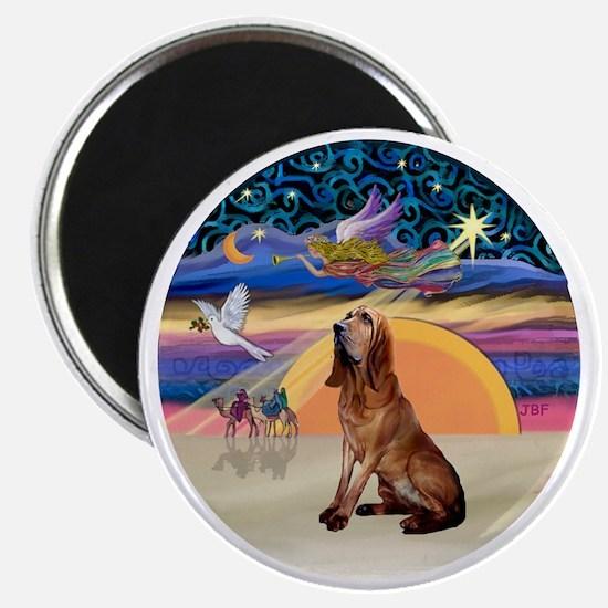 R-XmasAngel-Bloodhound Magnet