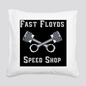 Fast Floyds Speed Shop Square Canvas Pillow