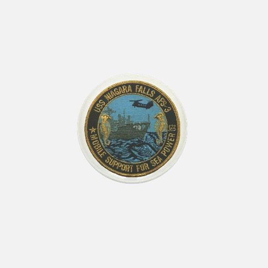 uss niagara falls patch transparent Mini Button