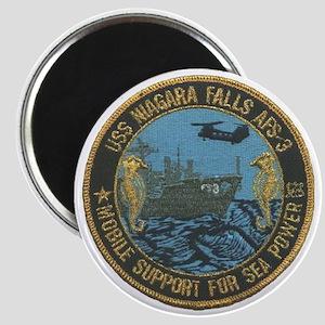 uss niagara falls patch transparent Magnet