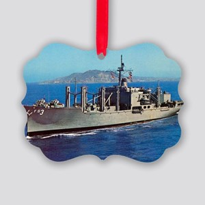 uss niagara falls large framed pr Picture Ornament