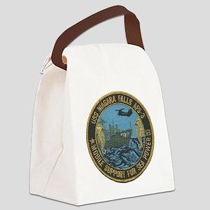 uss niagara falls patch transpare Canvas Lunch Bag