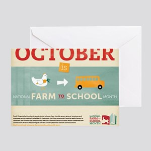 20 x 16 Farm to School Month poster Greeting Card