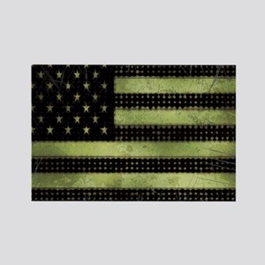 Grunge American Flag duvet design Rectangle Magnet