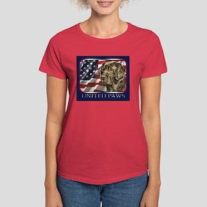 Chocolate Lab USA Flag Lab Women's Dark T-Shirt
