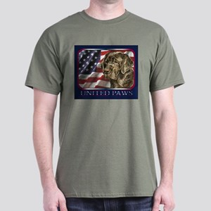 Chocolate Lab USA Flag Lab Dark Colored T-Shirt