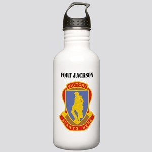 Fort Jackson with Text Stainless Water Bottle 1.0L