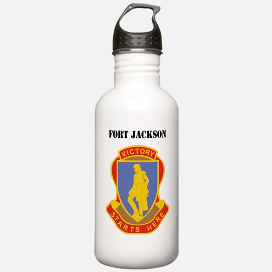 Fort Jackson with Text Water Bottle