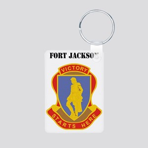 Fort Jackson with Text Aluminum Photo Keychain