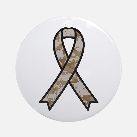 Military Support Ribbon Ornament (Round)