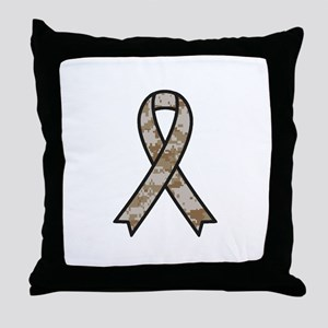 Military Support Ribbon Throw Pillow