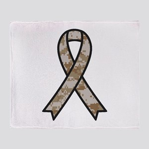 Military Support Ribbon Throw Blanket