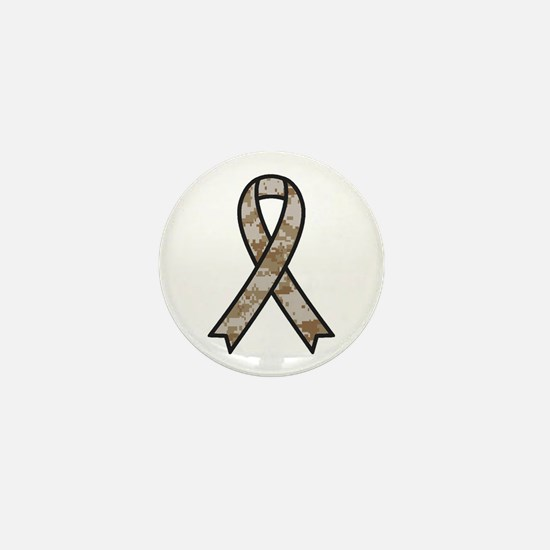 Military Support Ribbon Mini Button