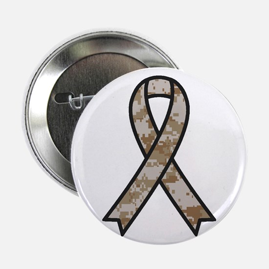 """Military Support Ribbon 2.25"""" Button"""