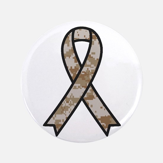 """Military Support Ribbon 3.5"""" Button"""